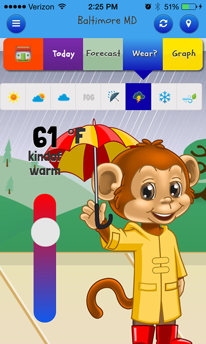 Kid Weather is an Educational Weather App for iPhone, iPad, and ...