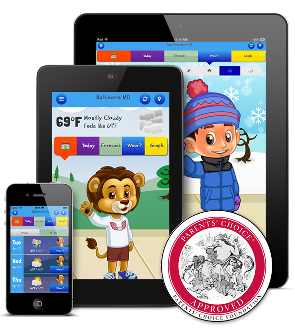 Kid Weather on Apple and Android